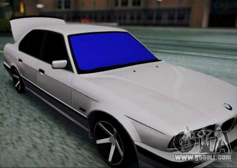 BMW 520i E34 for GTA San Andreas back left view
