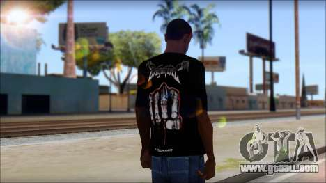 Dragonforce In Your Face Fan T-Shirt for GTA San Andreas second screenshot