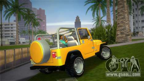 Jeep Wrangler 1986 v4.0 Fury for GTA Vice City left view