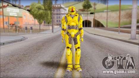 Masterchief Yellow from Halo for GTA San Andreas