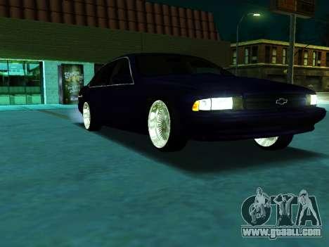 Chevrolet Impala SS 1995 for GTA San Andreas right view