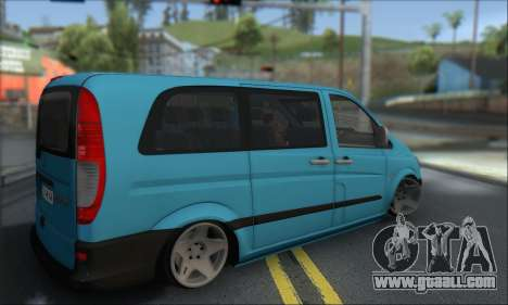 Mercedes-Benz 115 CDI Vito 2007 Stance for GTA San Andreas back left view