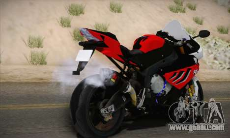 BMW S1000RR 2011 for GTA San Andreas left view
