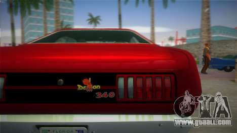 Dodge Dart Demon 340 1971 for GTA Vice City back left view
