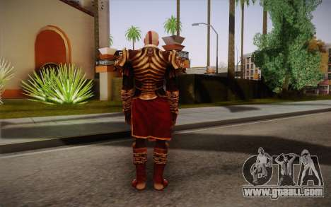 Kratos God Armor for GTA San Andreas second screenshot