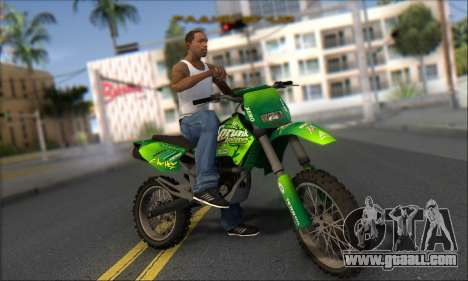 Sanchez From GTA V for GTA San Andreas back view