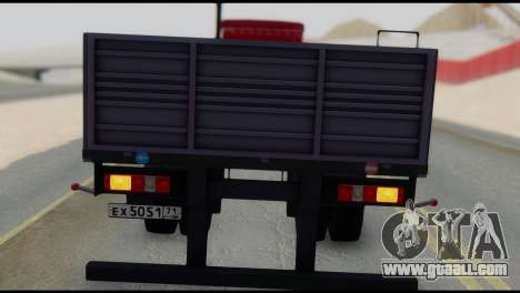 Semitrailer MAZ 93866 for GTA San Andreas right view