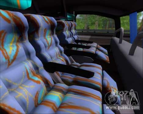 Busscar Jum Buss 400 Volvo B10R Pullman Del Sur for GTA San Andreas inner view