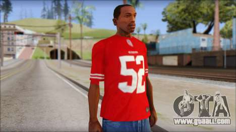 San Francisco 69ers 52 Willis Red T-Shirt for GTA San Andreas