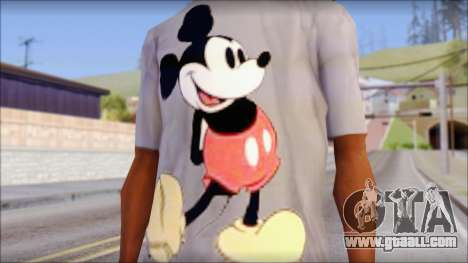 Mickey Mouse T-Shirt for GTA San Andreas third screenshot