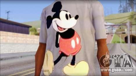 Mickey Mouse T-Shirt for GTA San Andreas third screenshot