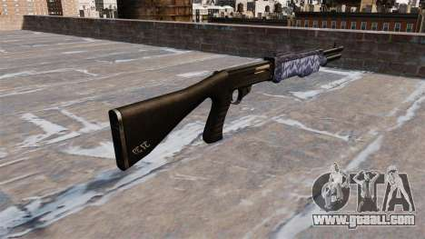 Ружье Franchi SPAS-12 Blue tiger for GTA 4 second screenshot
