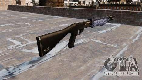 Ружье Franchi SPAS-12 Blue tiger for GTA 4 second screenshot