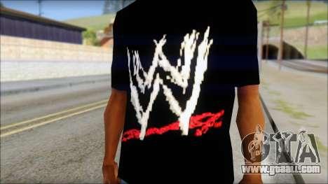 WWE Logo T-Shirt mod v2 for GTA San Andreas third screenshot