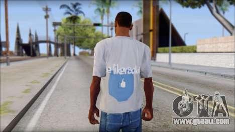 The Likersable T-Shirt for GTA San Andreas second screenshot