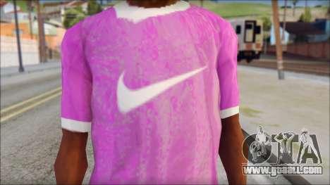 NIKE Pink T-Shirt for GTA San Andreas third screenshot