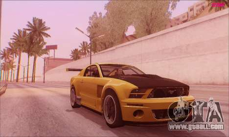 Ford Mustang GTR for GTA San Andreas back left view