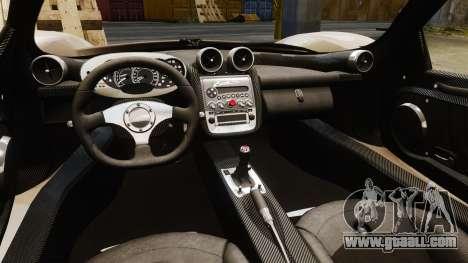 Pagani Zonda C12S Roadster 2001 v1.1 PJ2 for GTA 4 inner view