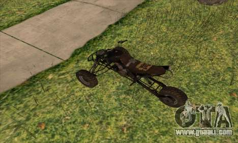 Trike from Ravaged for GTA San Andreas back left view
