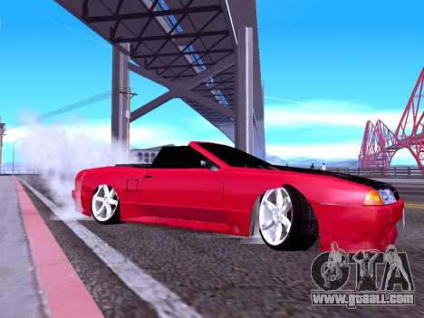 Elegy Cabrio HD for GTA San Andreas back left view