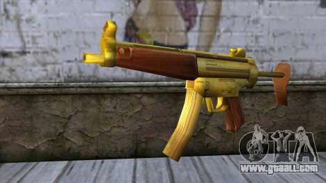 MP5 Gold from CSO NST for GTA San Andreas