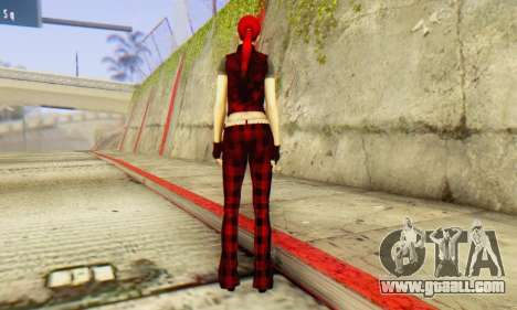 Red Girl Skin for GTA San Andreas third screenshot