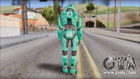 Masterchief Blue-Green from Halo for GTA San Andreas third screenshot