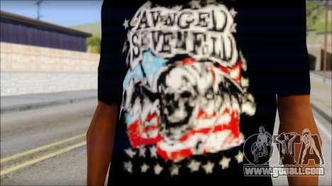 A7X Stars And Stripes T-Shirt for GTA San Andreas third screenshot