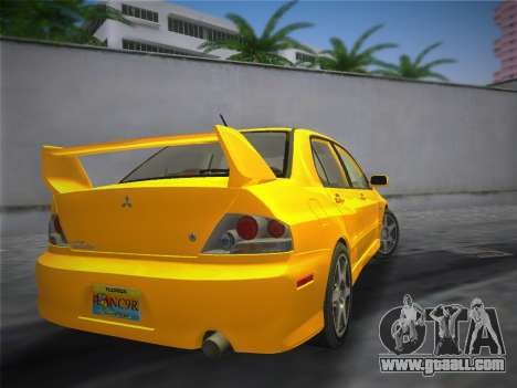 Mitsubishi Lancer Evolution 8 2004 for GTA Vice City left view