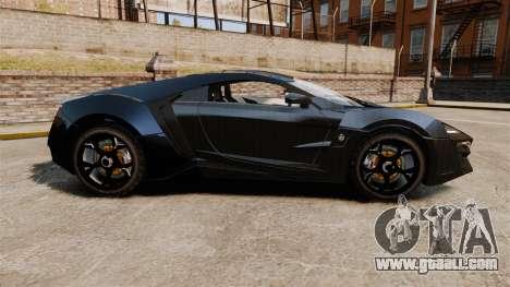 Lykan HyperSport Black for GTA 4 left view