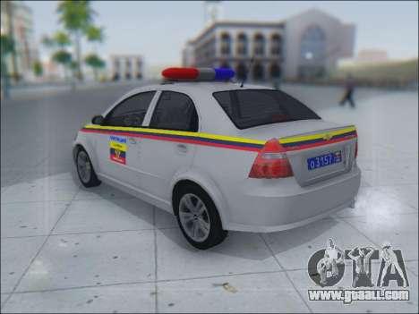 Chevrolet Aveo Милиция OНР for GTA San Andreas inner view
