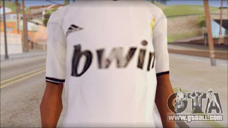 Real Madrid FC Jersey Mod for GTA San Andreas third screenshot