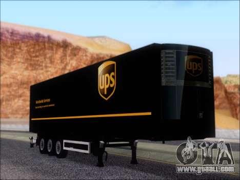 Прицеп United Parcel Service for GTA San Andreas