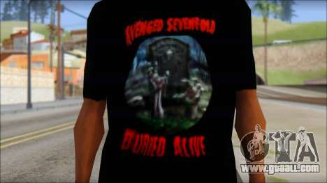 A7X Buried Alive Fan T-Shirt v1 for GTA San Andreas third screenshot