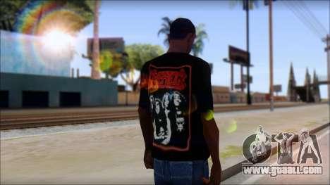 Kreator Shirt for GTA San Andreas second screenshot