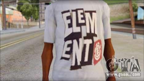 Element T-Shirt for GTA San Andreas third screenshot