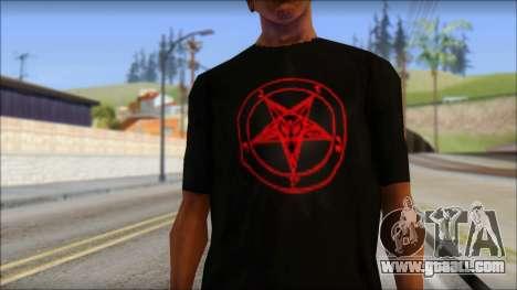 Red Pentagram Shirt for GTA San Andreas third screenshot