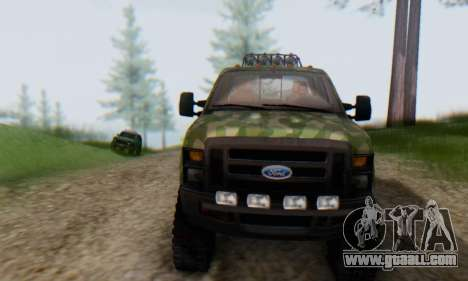 Ford F-250 Camo Lifted 2010 for GTA San Andreas upper view