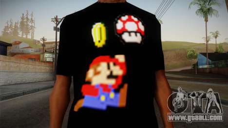 Mario Bros T-Shirt for GTA San Andreas third screenshot