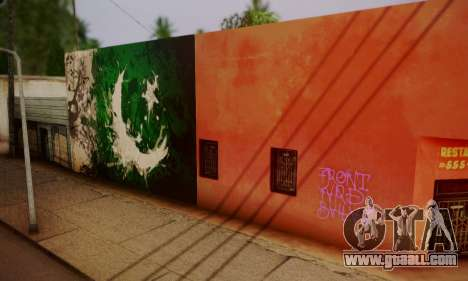 Pakistani Flag Graffiti Wall for GTA San Andreas second screenshot