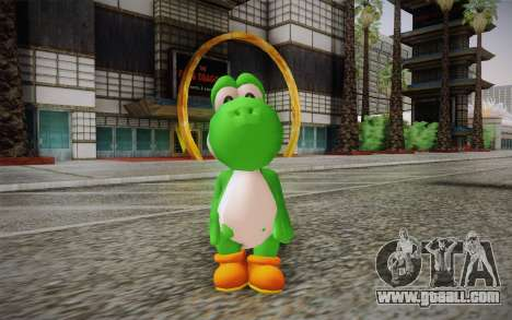 Yoshi from Super Mario for GTA San Andreas