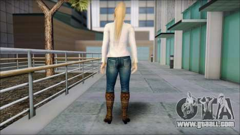 Sarah from Dead or Alive 5 v1 for GTA San Andreas second screenshot