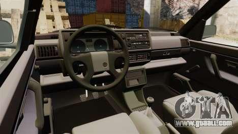 Volkswagen Golf GTI Mk2 for GTA 4 inner view