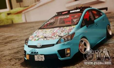 Toyota Prius Hybrid 2011 Helaflush for GTA San Andreas