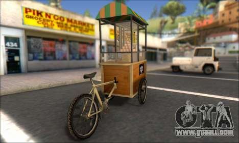 Gerobak Bakso for GTA San Andreas left view