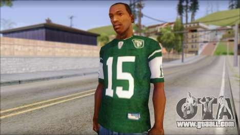 New York Jets 15 Tebow Green T-Shirt for GTA San Andreas