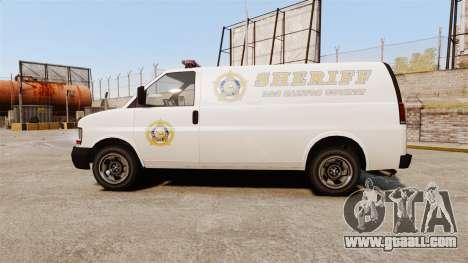 Vapid Speedo Los Santos County Sheriff [ELS] for GTA 4 left view