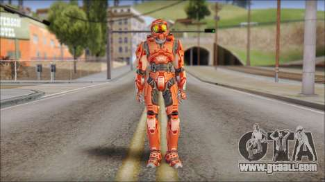Masterchief Red from Halo for GTA San Andreas