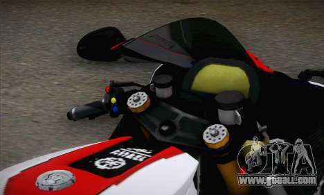 Yamaha R1 2011 for GTA San Andreas back left view