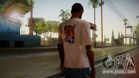Leopard Shirt White for GTA San Andreas second screenshot